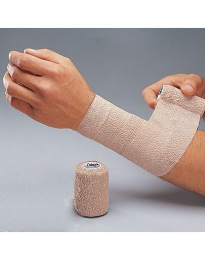 Bandagem Elástica COBAN 100mm x 4,5m Bege - 3M