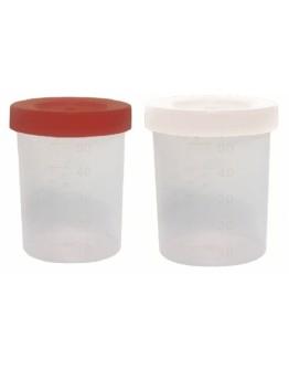 Coletor de Urina 50mL com Tampa Branca Não Estéril Com Pá (100 unidades) - J.Prolab
