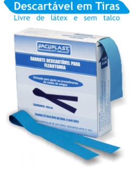 Garrote para Flebotomia Descartável em Tiras 36cm (25 unidades) - Cral