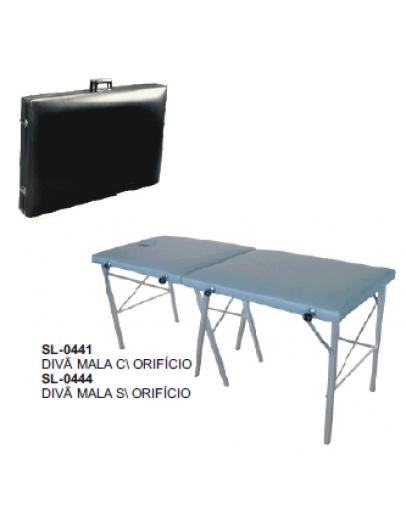 Divã tipo Maleta Dobrável Plastificado sem Orifício (SL0444B) - Santa Luzia