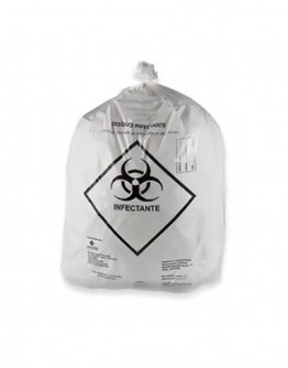 Saco para Lixo Hospitalar Infectante 15 Litros (100 unidades) - Rava